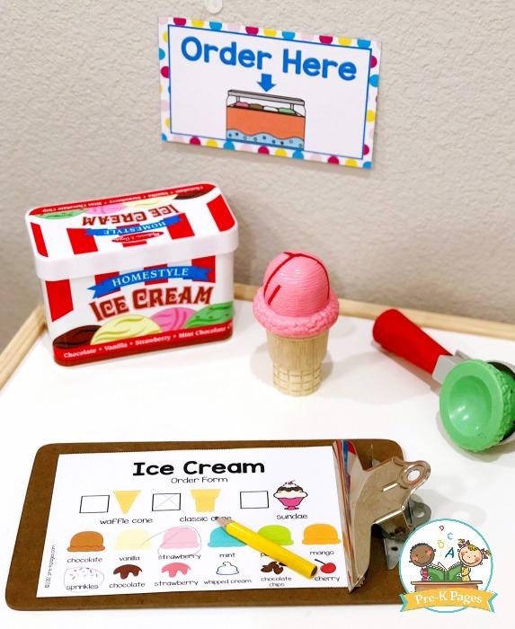 Ice Cream Shop Order Form Printable