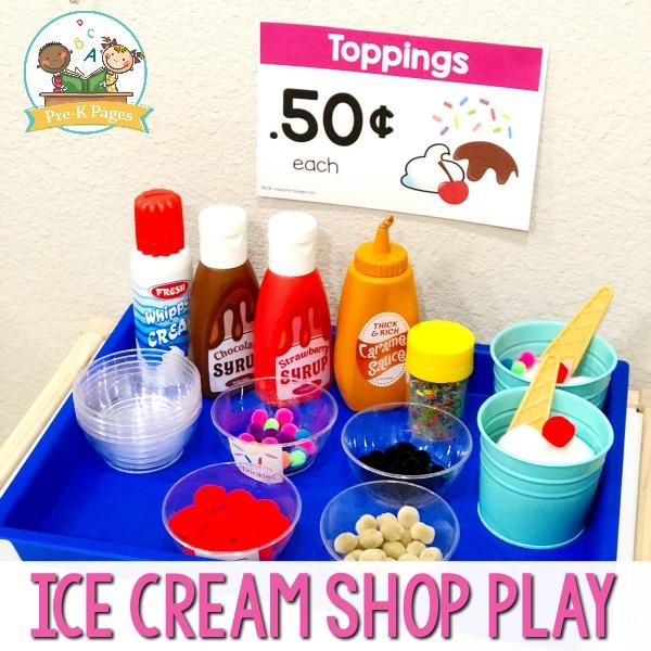 Ice Cream Shop Pretend Play in Preschool