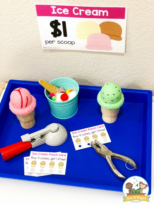 Ice Cream Shop Printable Punch Cards