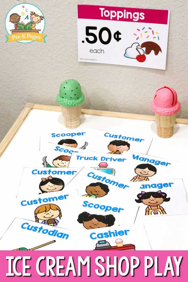 Ice Cream Shop Role Playing Nametags
