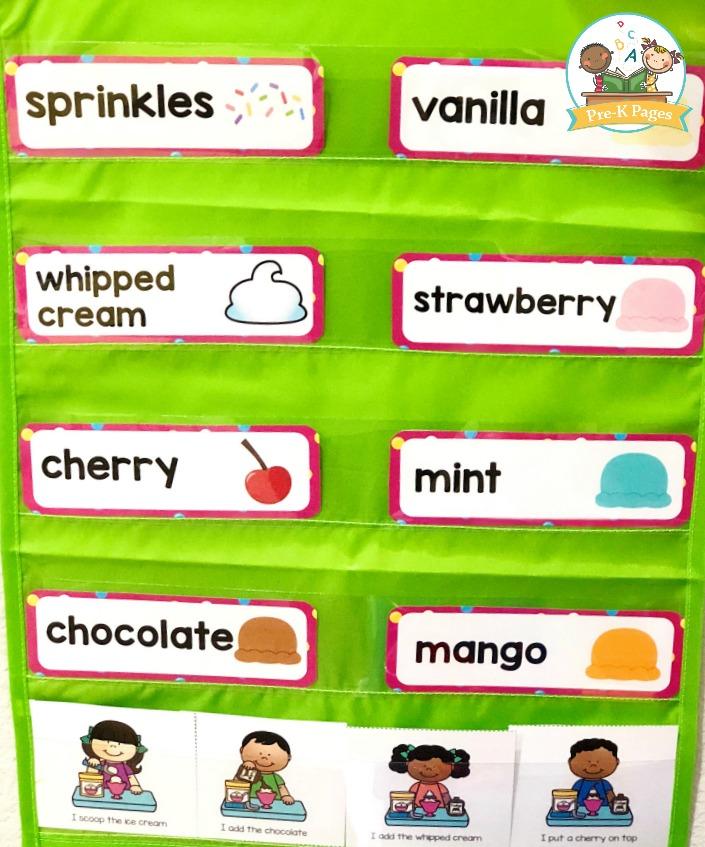 Ice Cream Shop Word Cards
