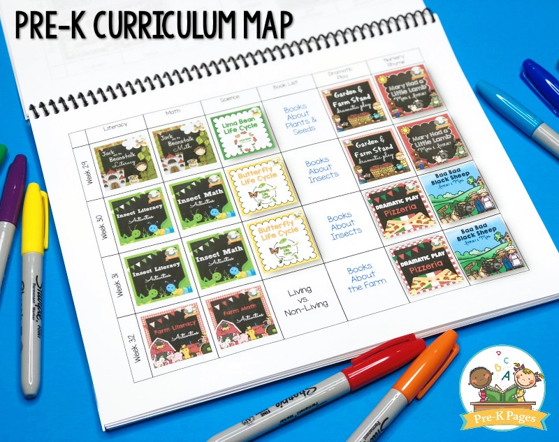 Pacing Guide Curriculum Map for Preschool