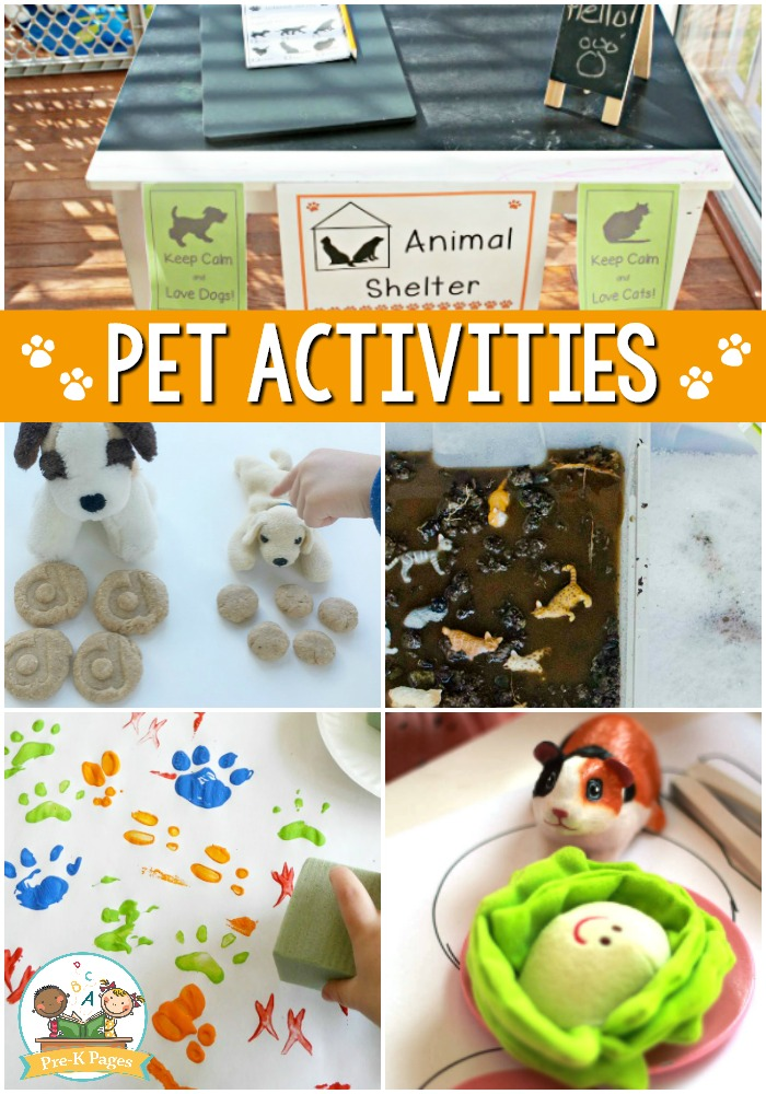 Pets Theme Activities for Preschool - Pre-K Pages