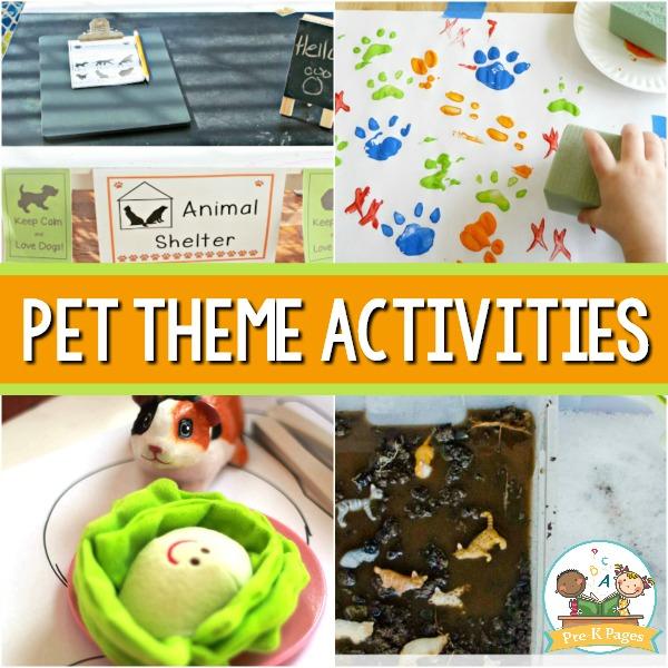 Pet Themed Activities for Preschoolers