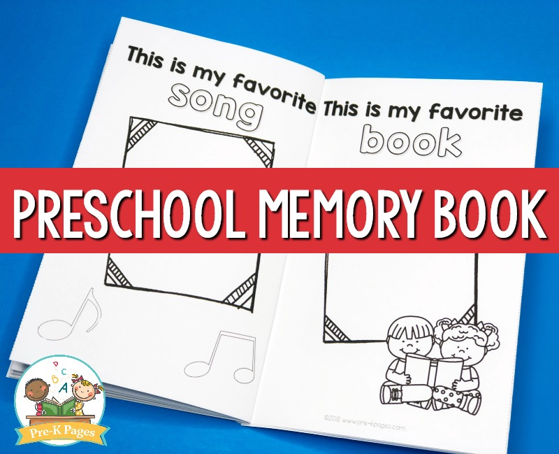 Preschool Memory Book for the end of the year