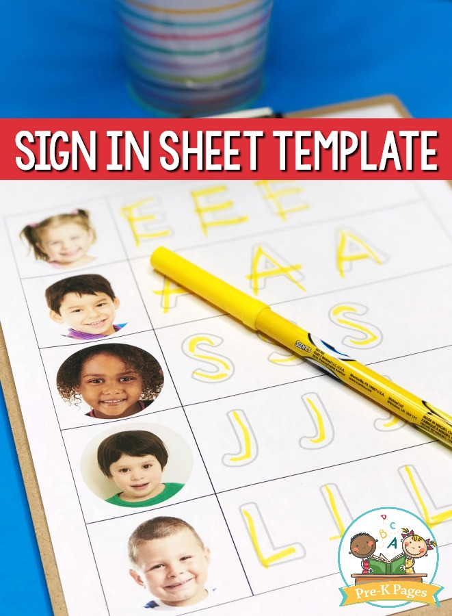 Printable Sign In Sheet Template