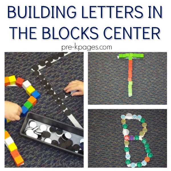 building alphabet pre-k block center