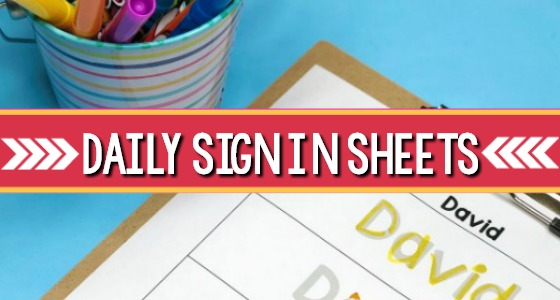 Daily Sign In Sheets for Your Preschool Classroom