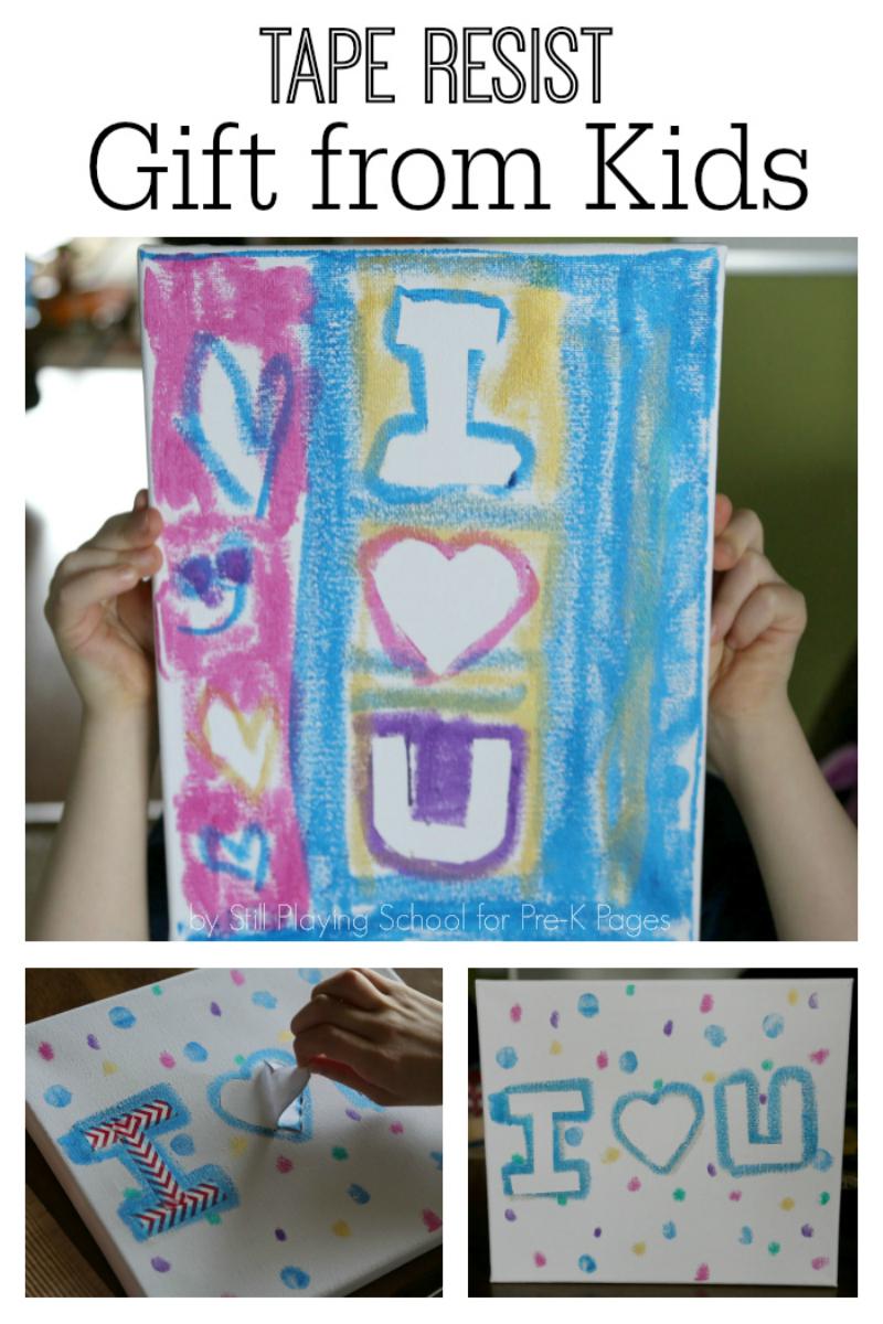 painting parent teacher gift preschool