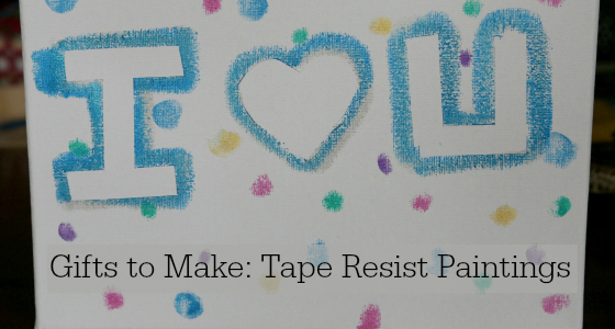 Gifts Kids Can Make: Tape Resist Paintings