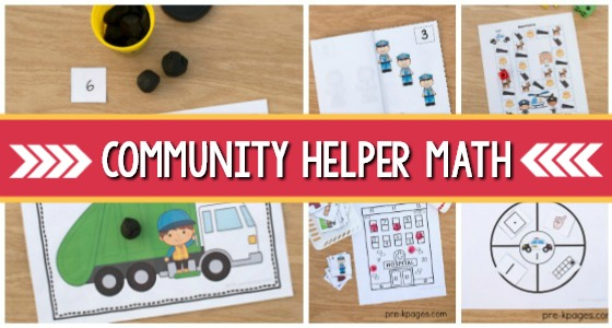 Community Helpers Math Activities for Preschool