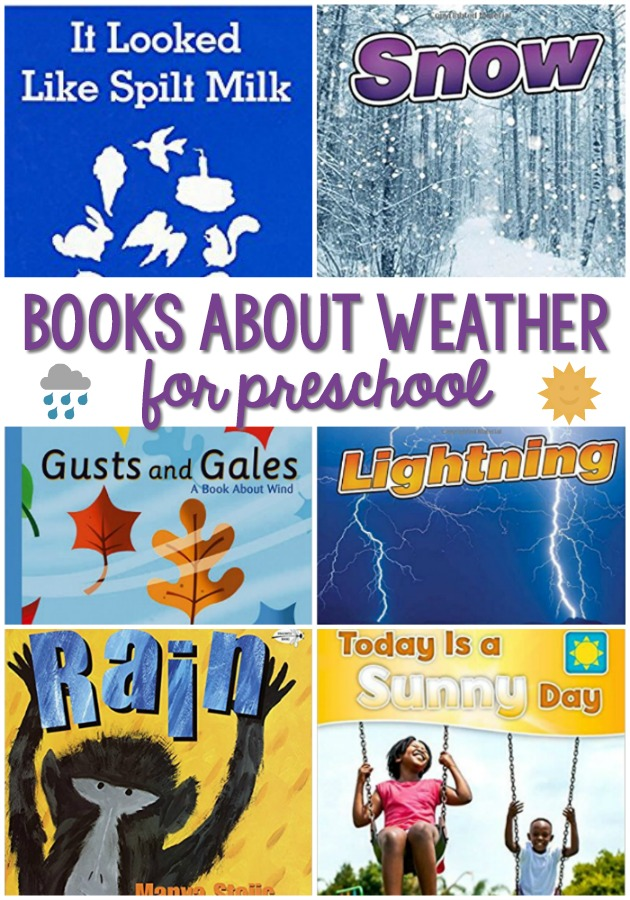 Books About Weather for Preschool