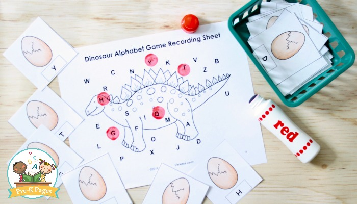 Dinosaur Alphabet Game