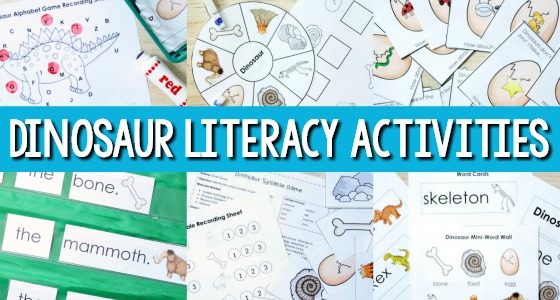 Dinosaur Literacy Activities for Preschoolers