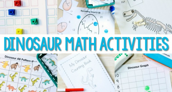 Dinosaur Math Activities for Preschool