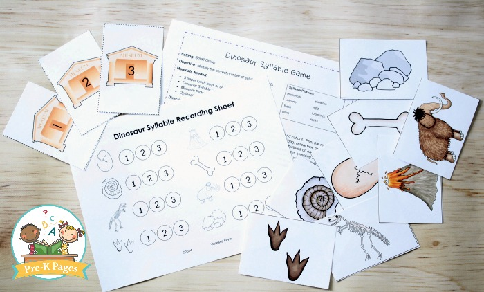 Dinosaur Syllable Game