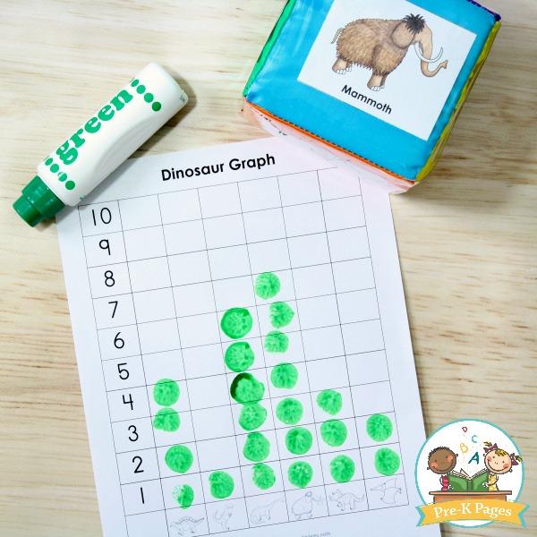 Dinosaur Theme Graphing Activity