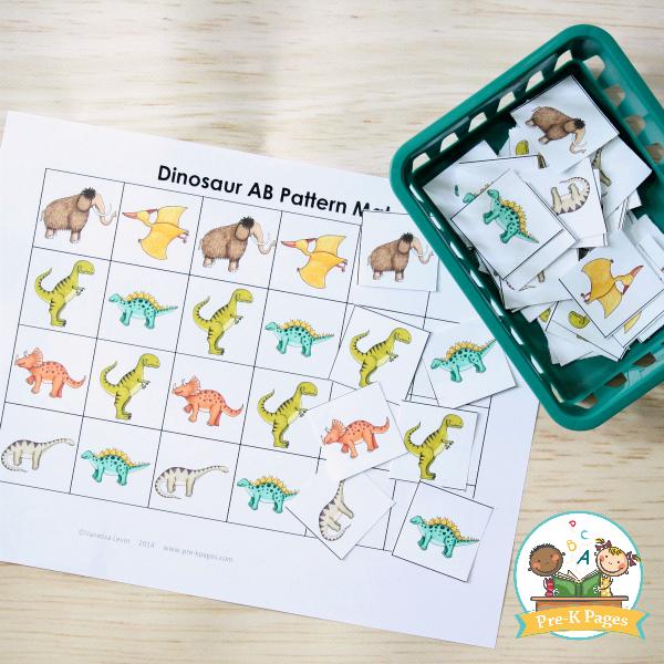 Dinosaur Theme Pattern Activity