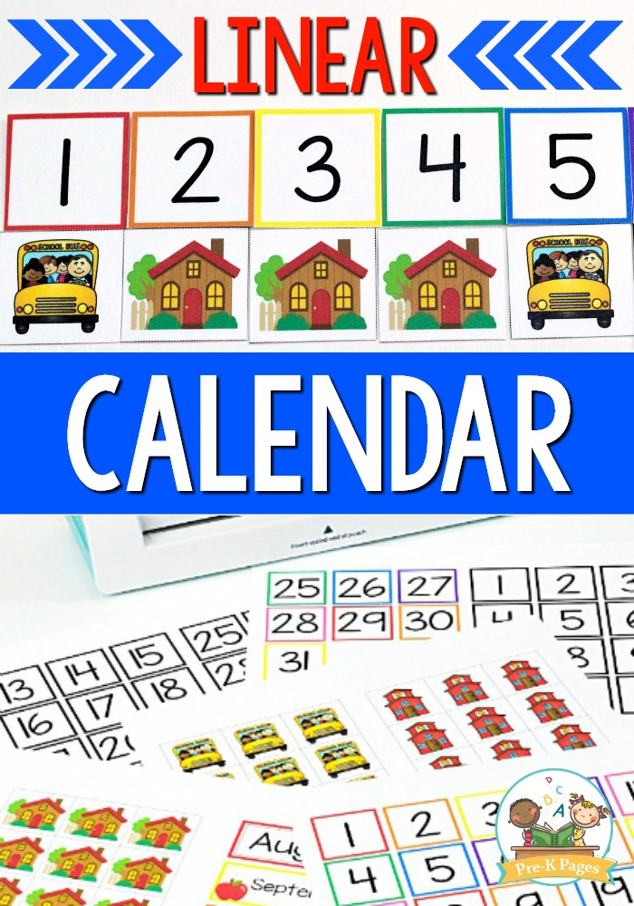 How to Use a Linear Calendar in Preschool