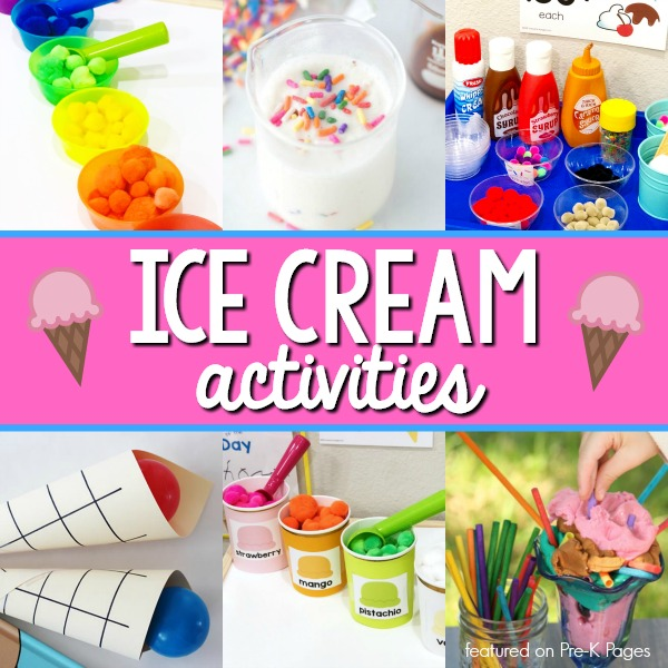 Ice Cream Activities for Preschoolers