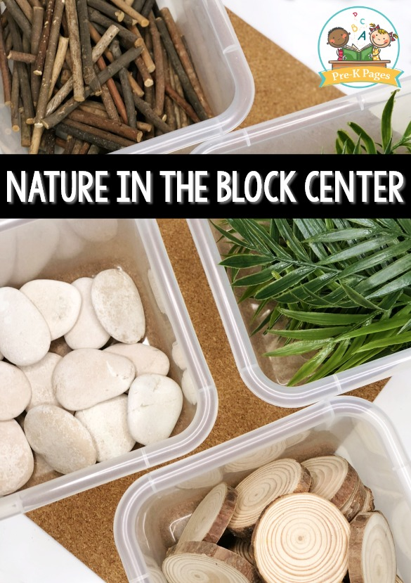 Natural Items in the Block Center