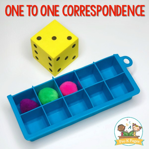 One to One Correspondence Activity Pom Poms