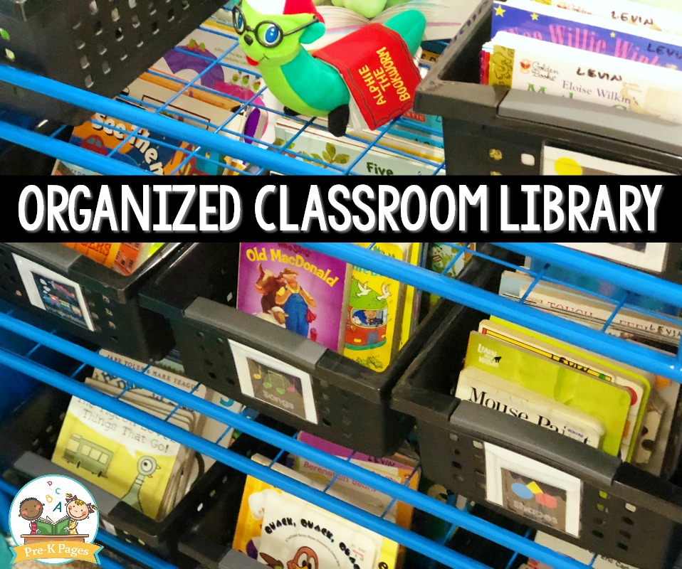 Organized Classroom Library in Preschool