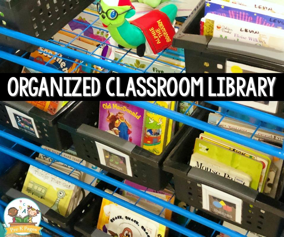 Organized Classroom Library In Preschool