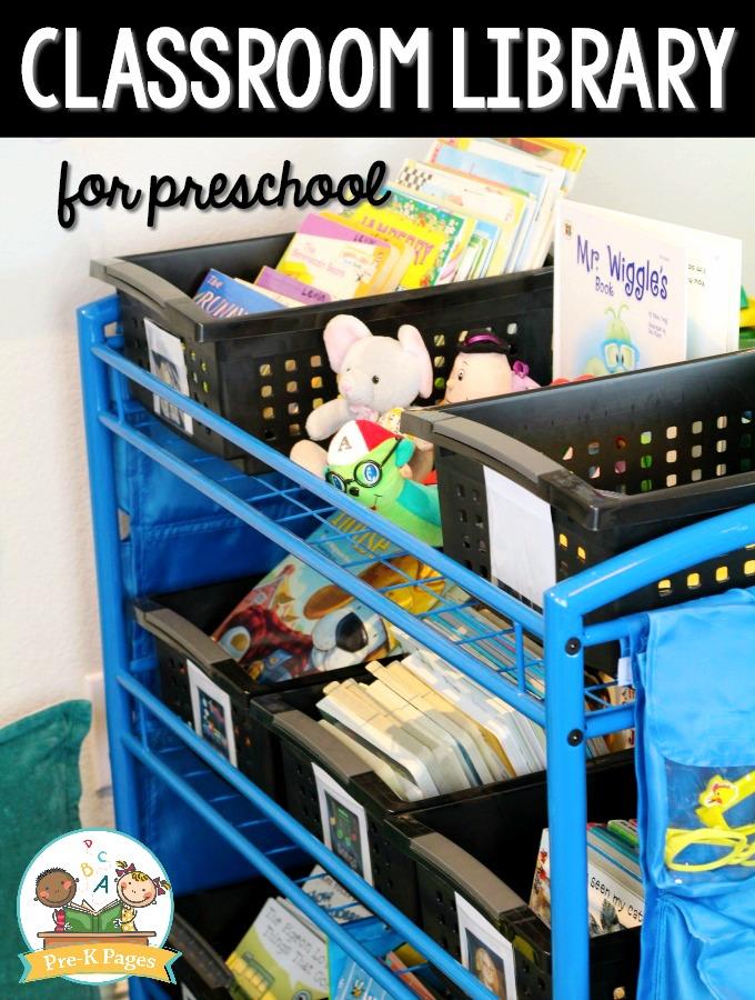 Preschool Classroom Library Book Organization