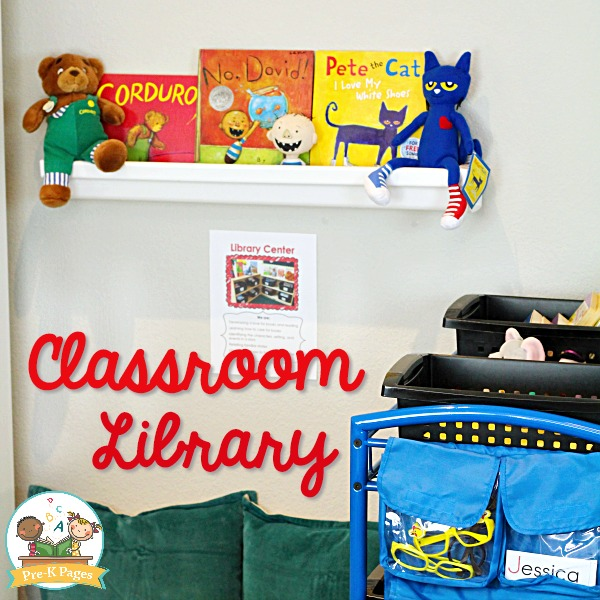 Preschool Classroom Library Center Sign