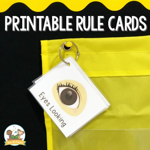 Printable Rule Cards for Preschool