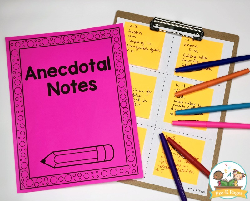 Anecdotal Notes in Preschool