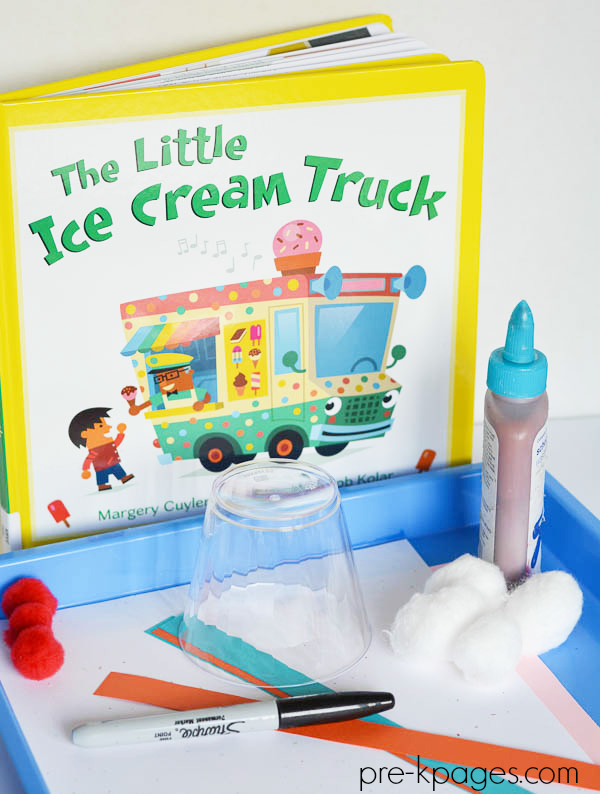 ice cream literacy activity pre-K