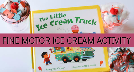 fine motor ice cream activity