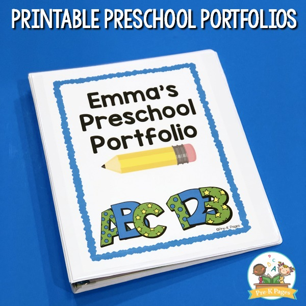 What goes inside a preschool portfolio