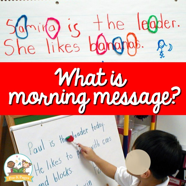 What is Morning Message in Preschool