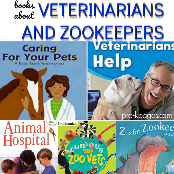 pre-k books zoo vet helpers