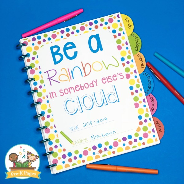 Be a Rainbow Quote Teacher Planner