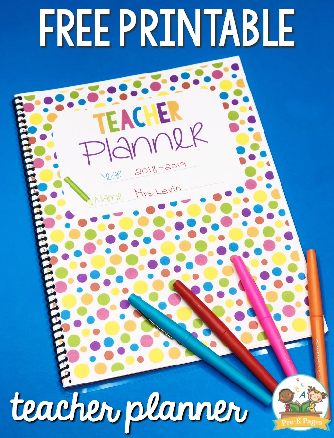 photo regarding Teacher Binder Printables called Trainer Planner for Preschool Totally free Printable - Pre-K Web pages