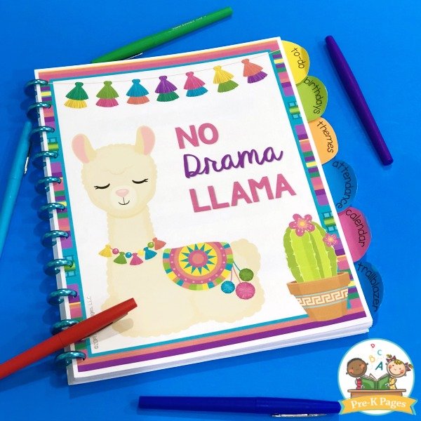 Llama Theme Teacher Planner