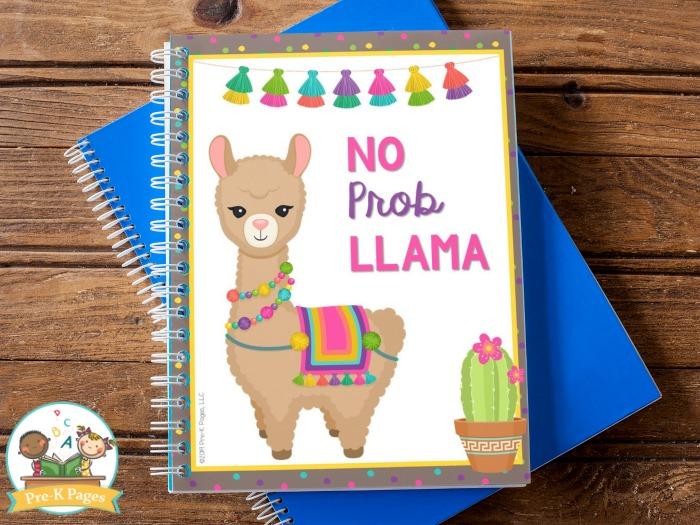 No Prob Llama Teacher Planner Cover