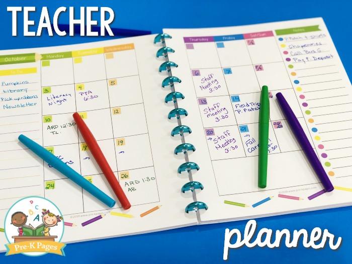Open Teacher Planning Calendar