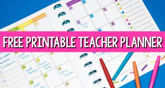 Teacher Planner for Preschool Free Printable