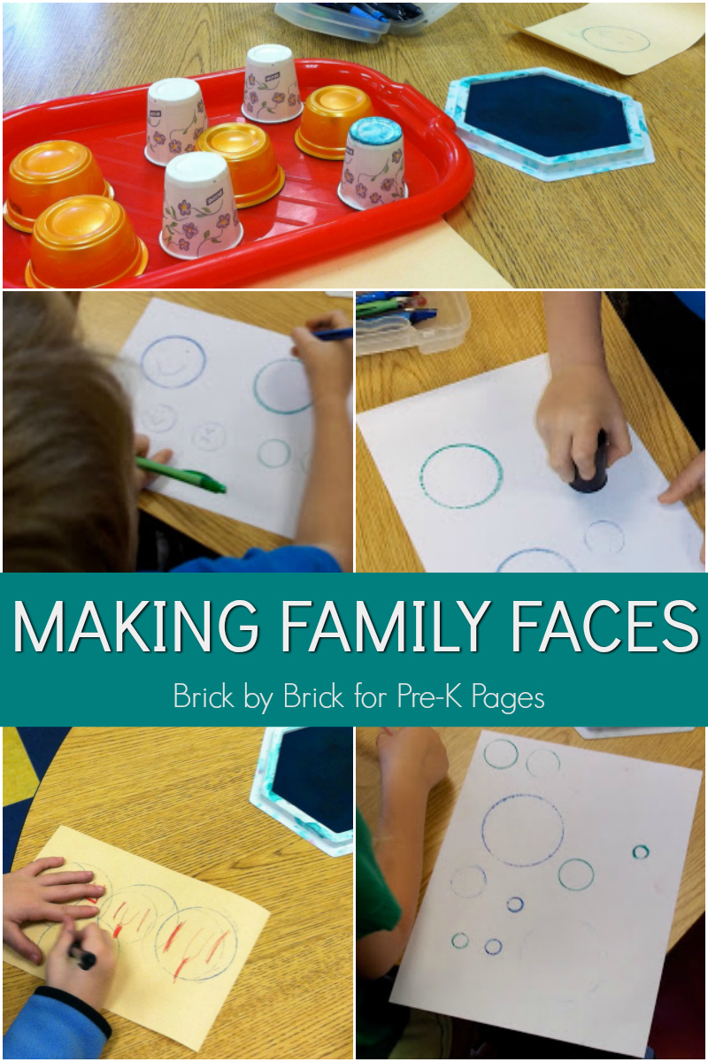 making family faces for preschool