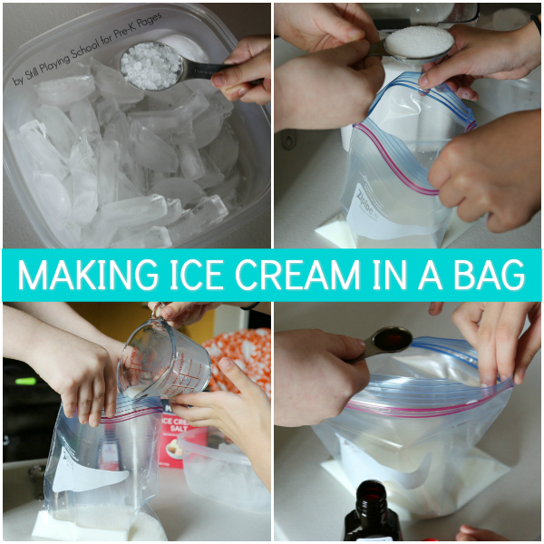 making ice cream bag pre-k