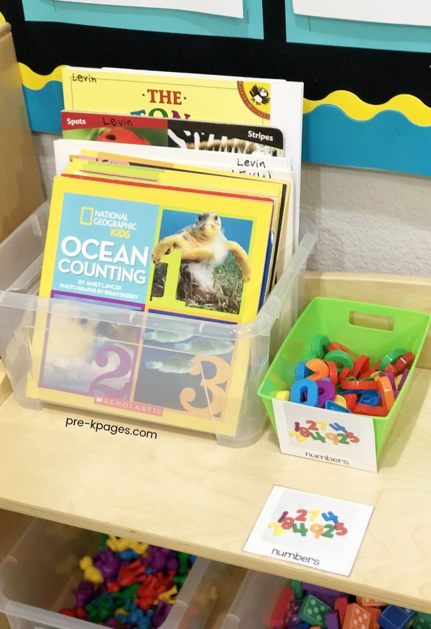 Math Books in Preschool Center