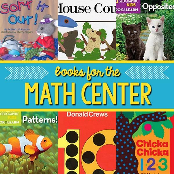 Preschool Math Center Books