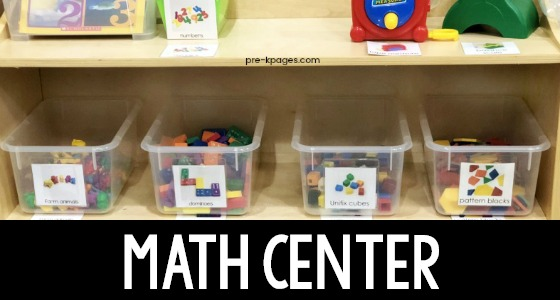 Preschool Math Center Cover