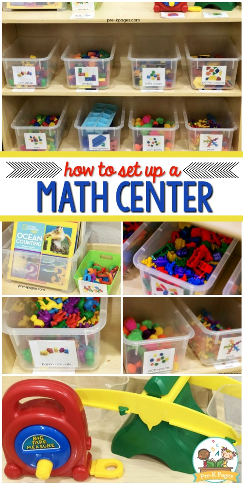 What goes in a math center