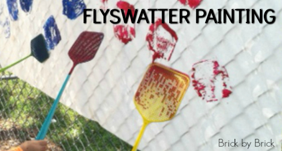 Painting with Flyswatters for Preschoolers